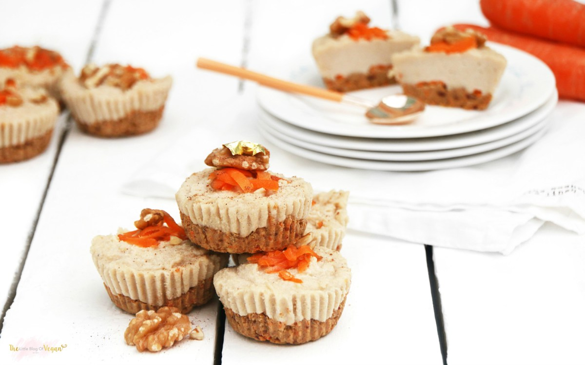 Vegan Raw Carrot Cake Cheesecakes
