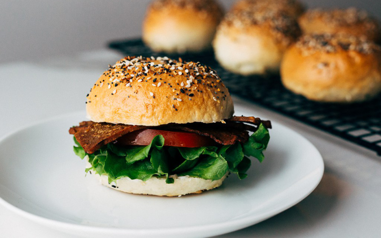 Homemade Everything Bagel BLT