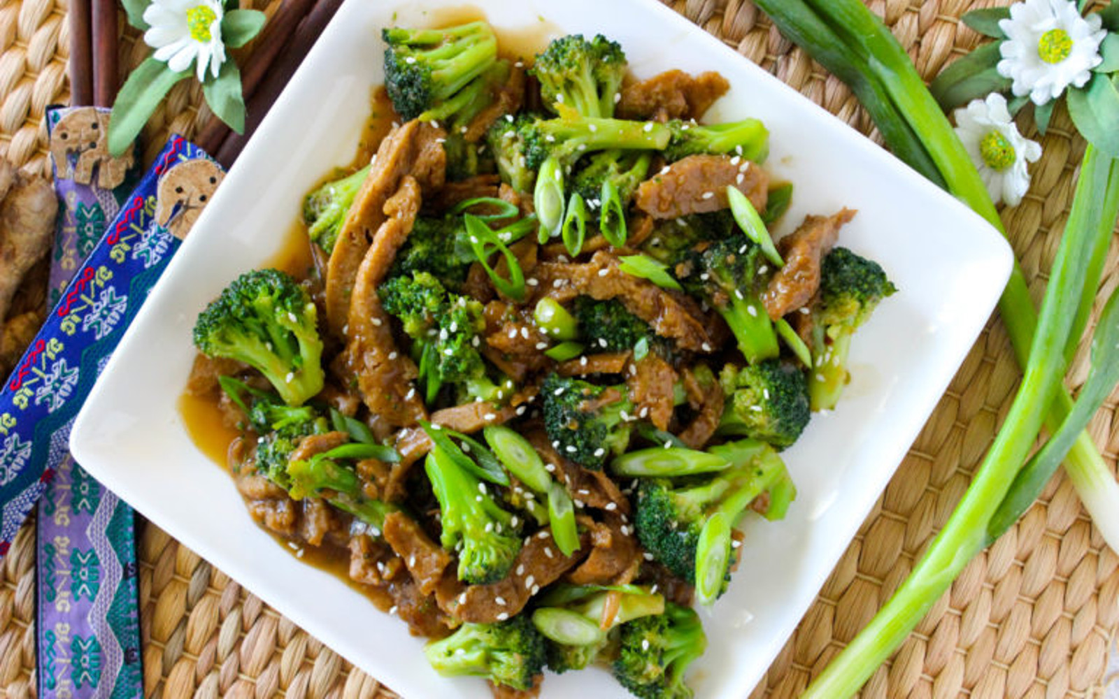 "10-Minute Seitan ""Beef"" and Broccoli"