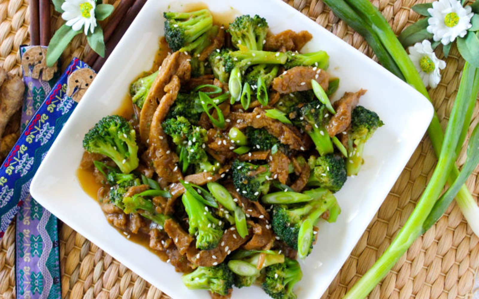 Vegan 10-Minute Seitan 'Beef' and Broccoli