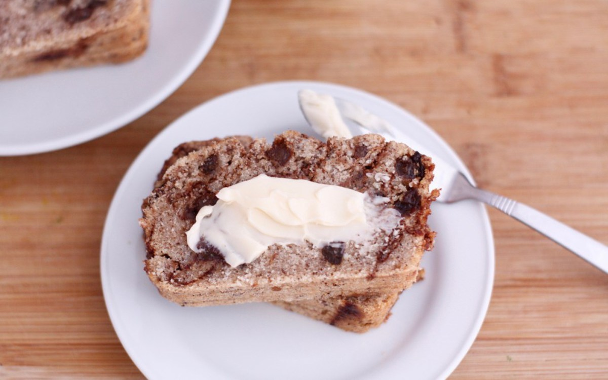 Cinnamon Raisin Swirl Coconut Bread [Vegan, Gluten-Free]