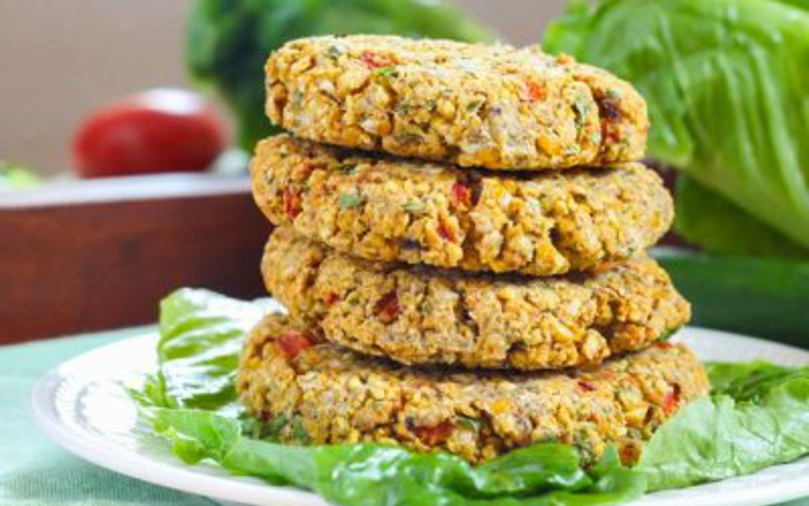 Vegan Roasted Red Pepper Chickpea Burger