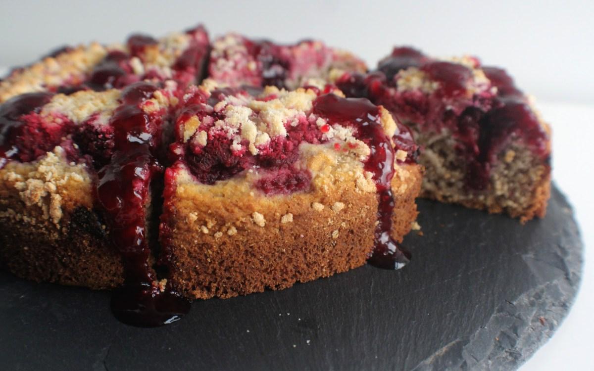 Vegan Mood-Boosting Vanilla Berry Cake