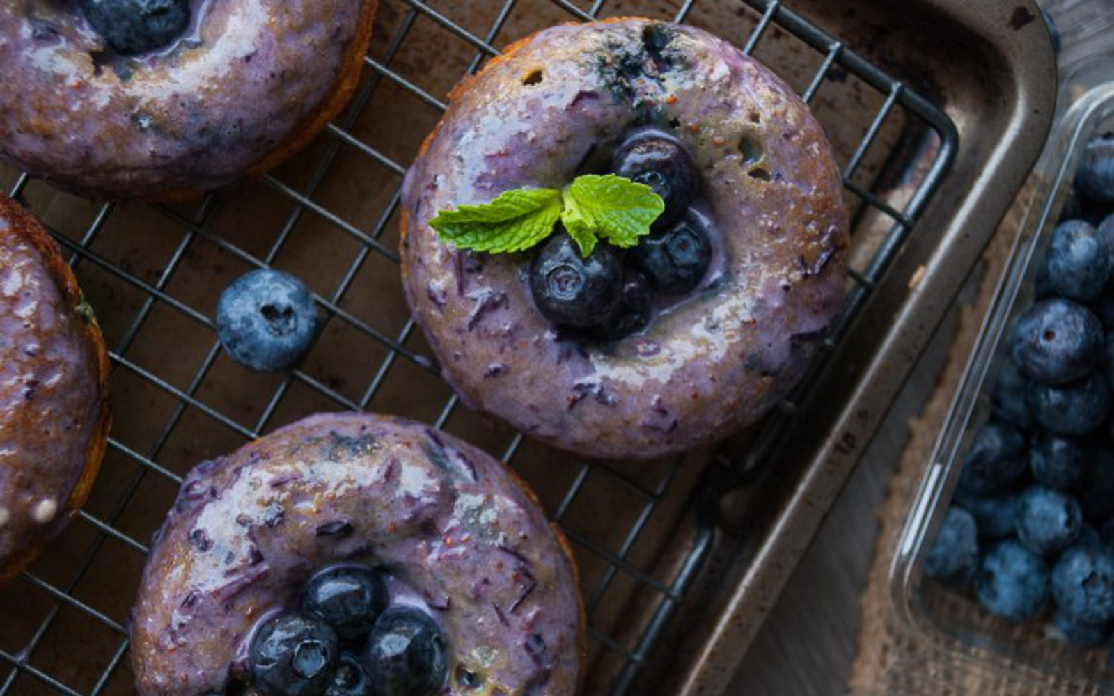 Healthy Blueberry Baked Doughnuts