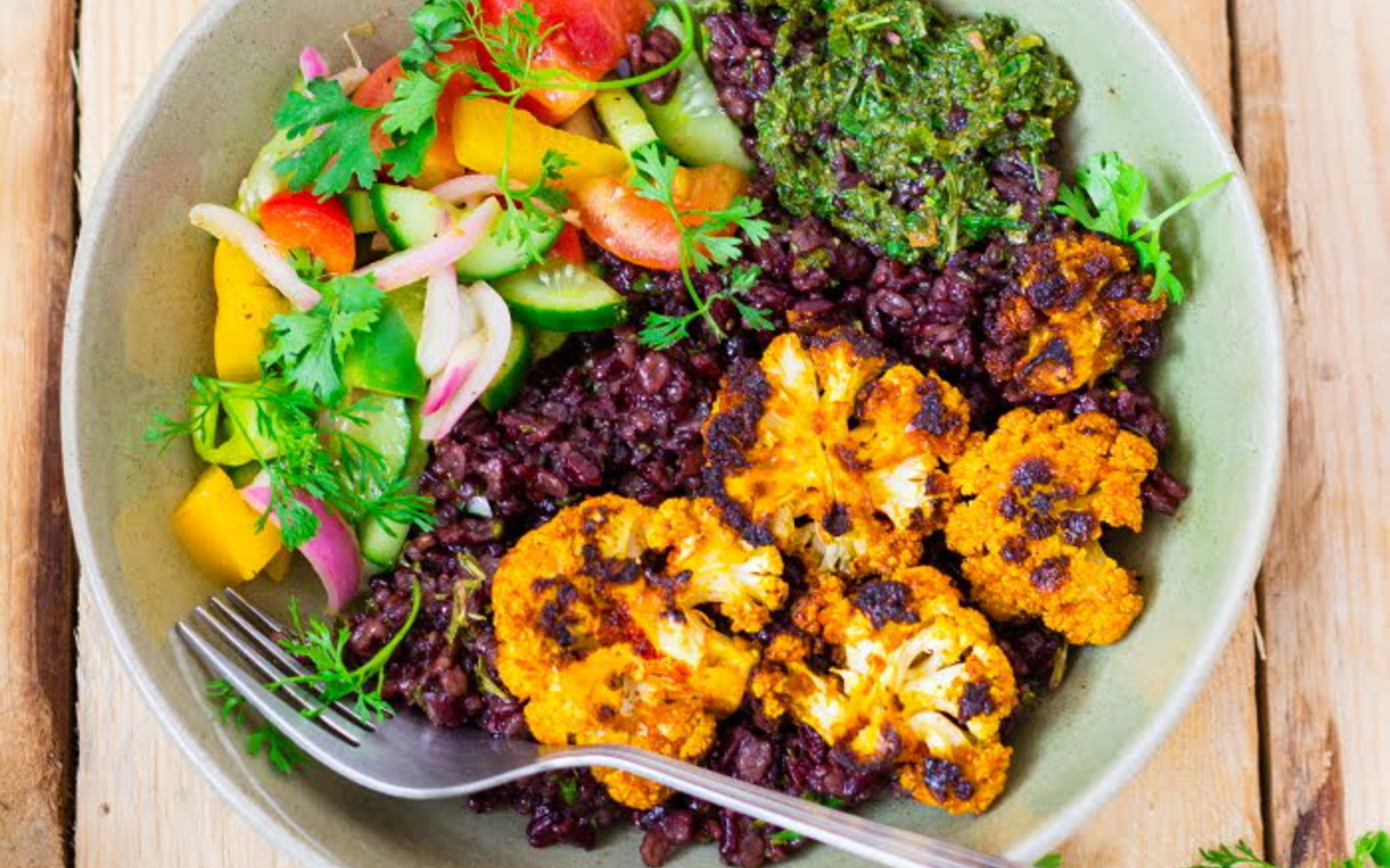 Spicy Grilled Cauliflower Summer Bowl