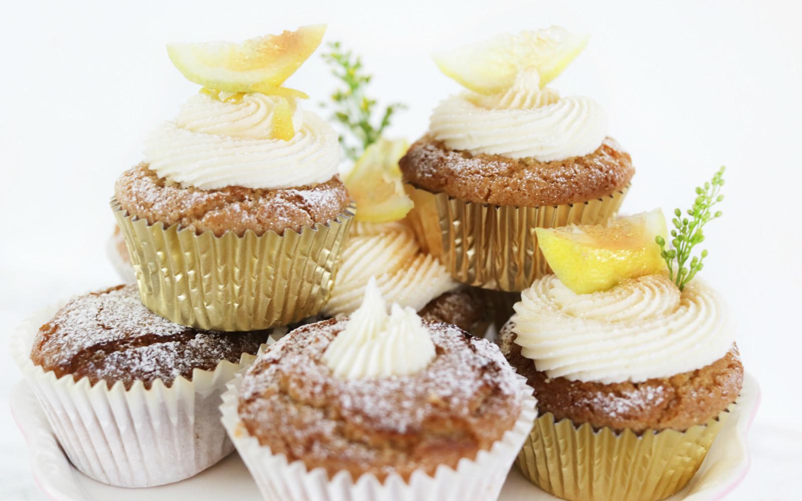Vegan Lemon Drizzle Cupcakes