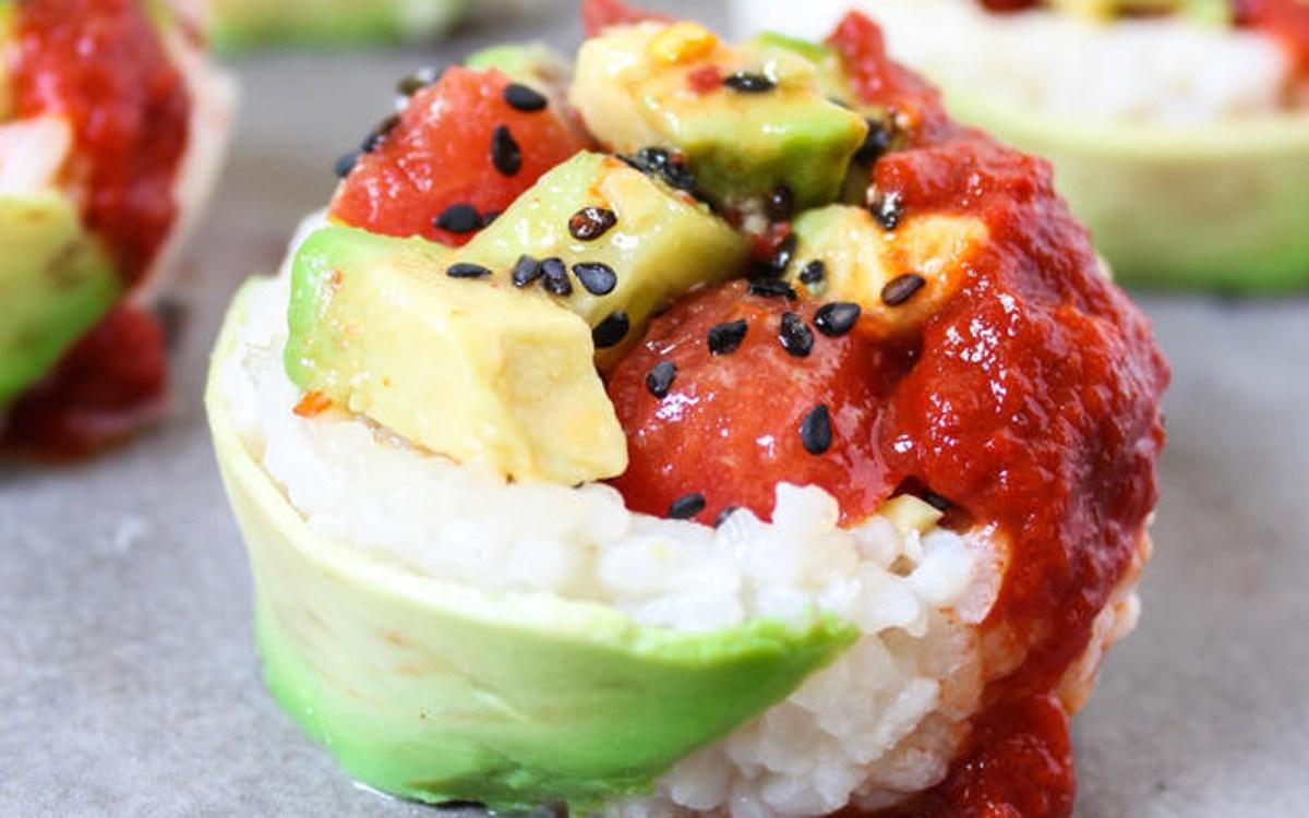 Vegan Gluten Free Ahi Sushi Cups