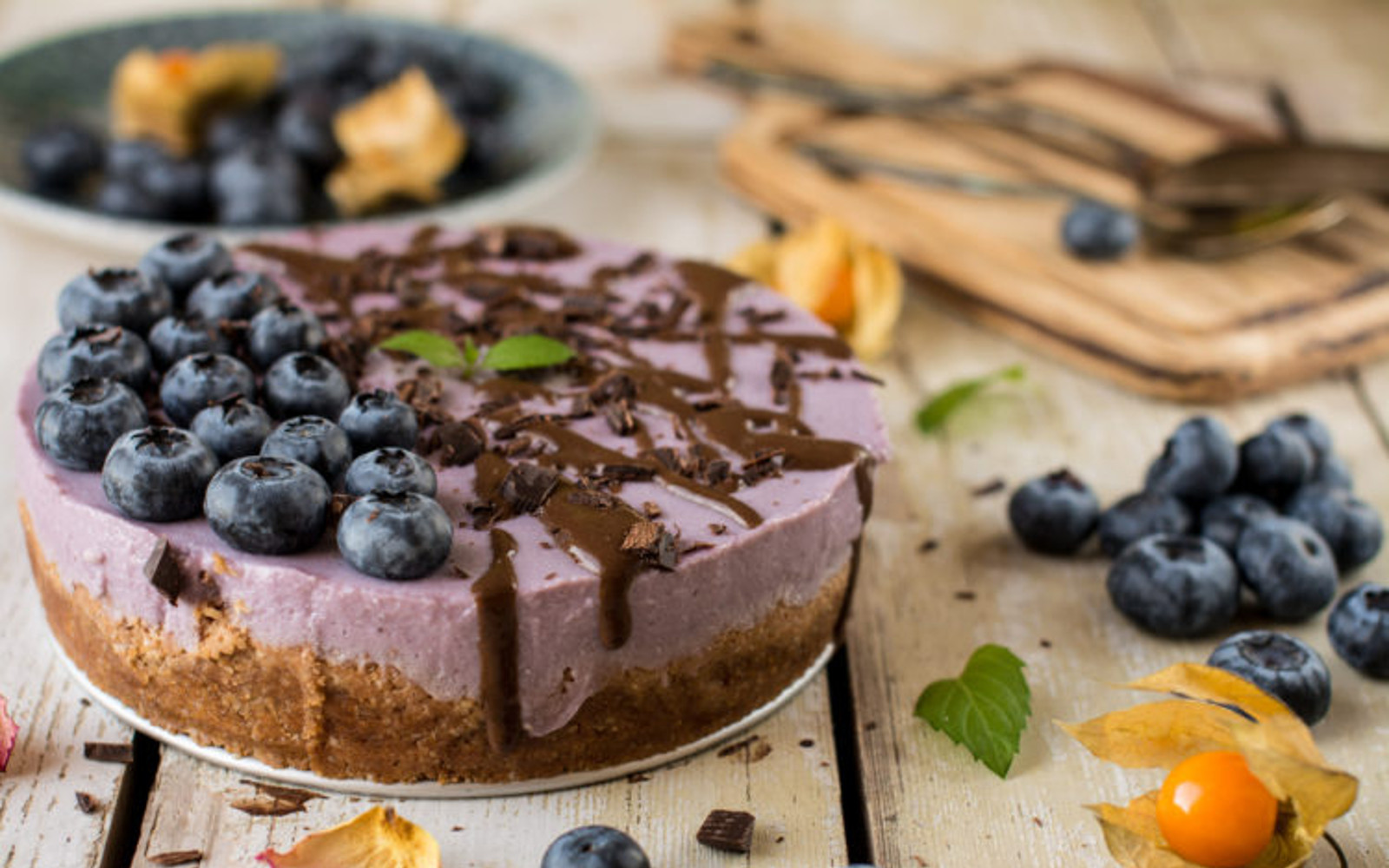 Vegan Tofu Cheesecake with Purple Yams