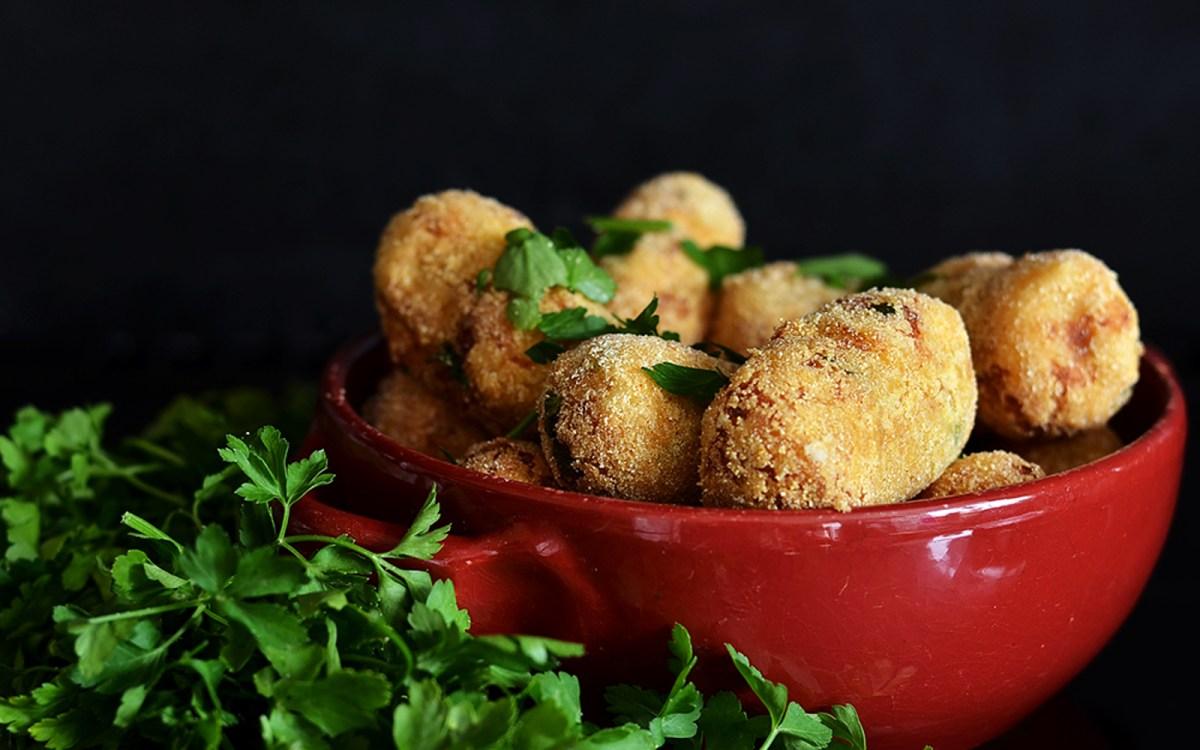 """""""Cheesy"""" Potato Croquettes"""