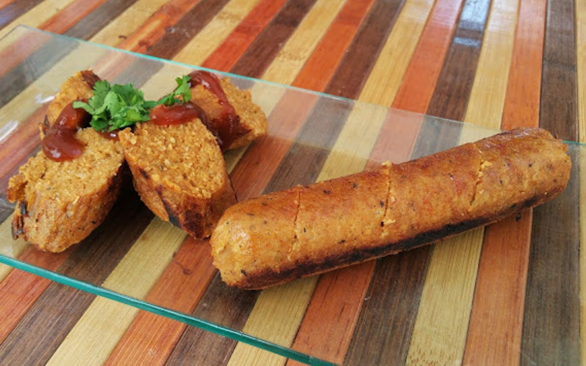 Vegan Salchichas: Spanish Oat and Protein Sausages