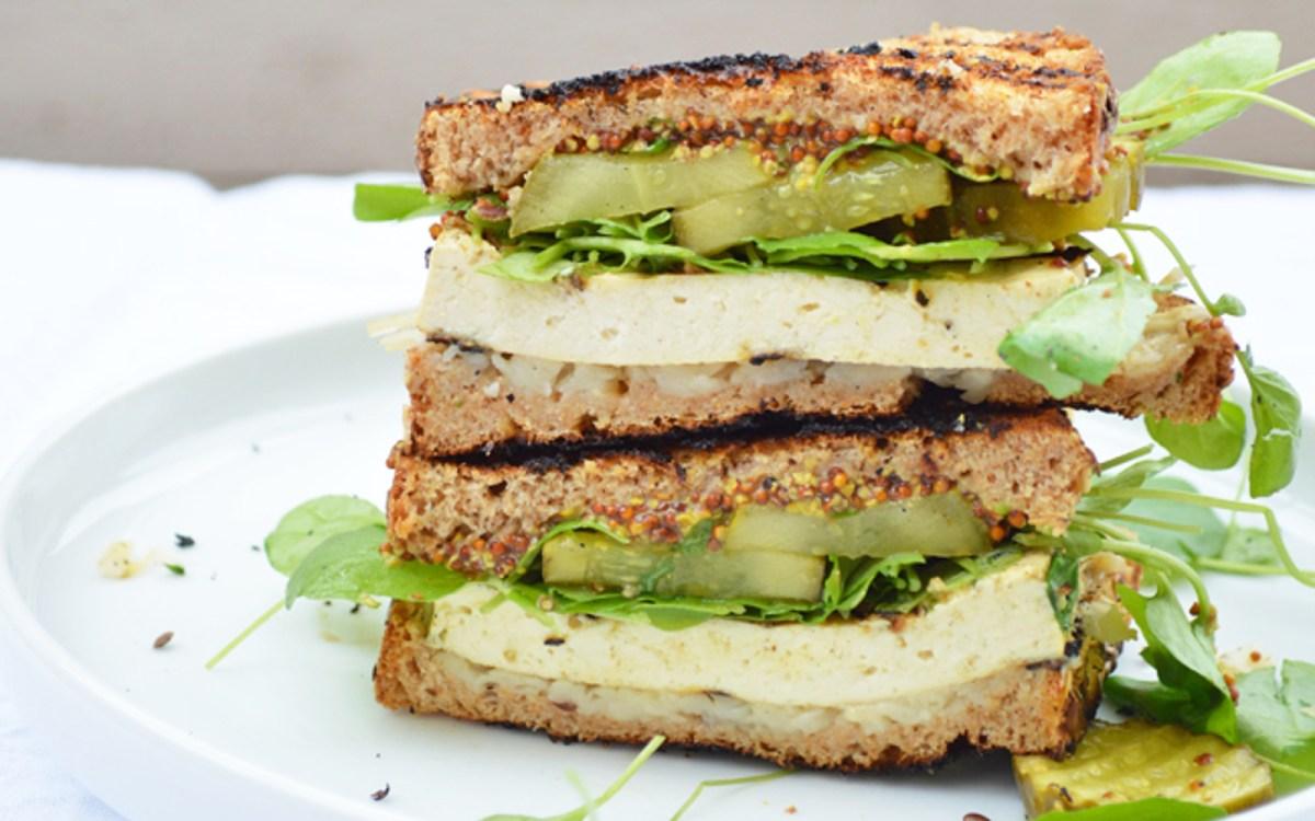 Grilled Cuban Tofu Sandwich