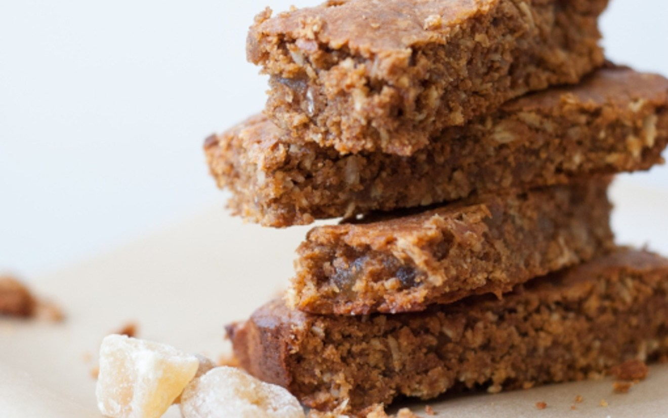 Vegan Sweet Potato Ginger Granola Bars