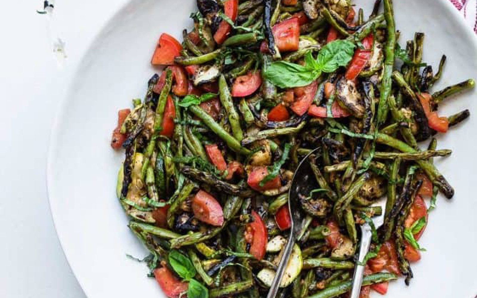 Vegan Grilled Zucchini and Green Bean Salad