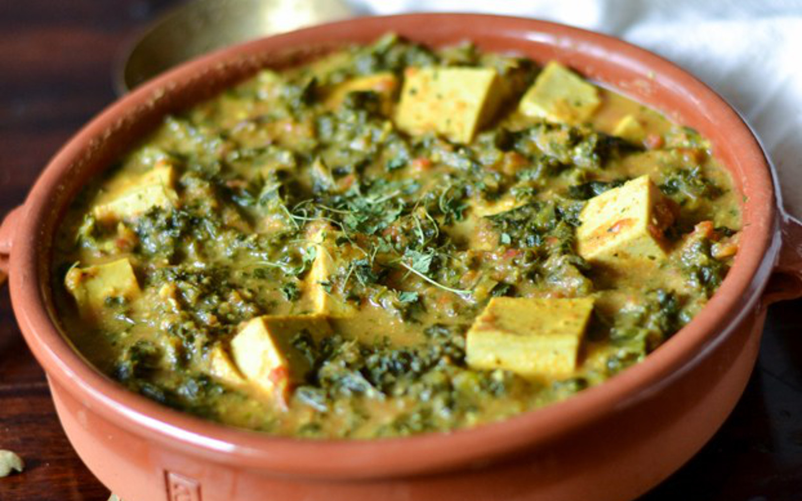 vegan kale tofu curry