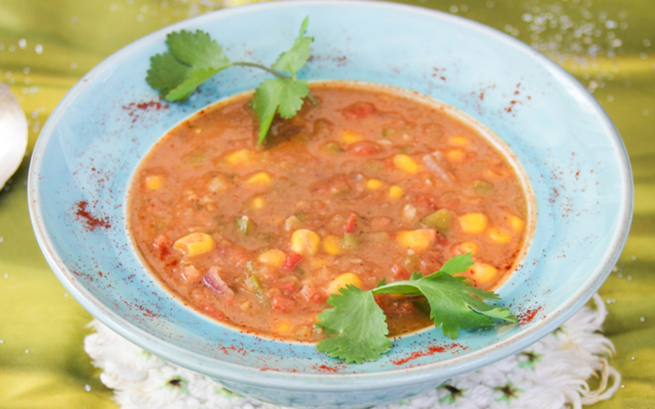Vegan Refried Bean and Salsa Soup