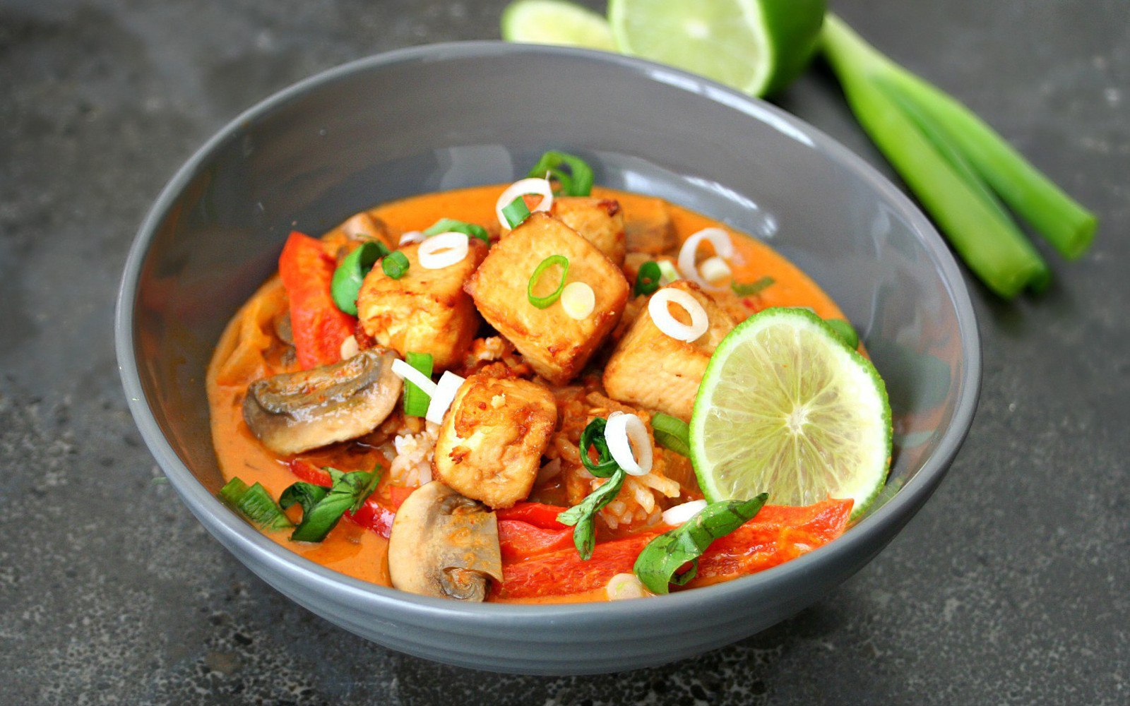 Vegan Eas Thai Red Tofu Curry