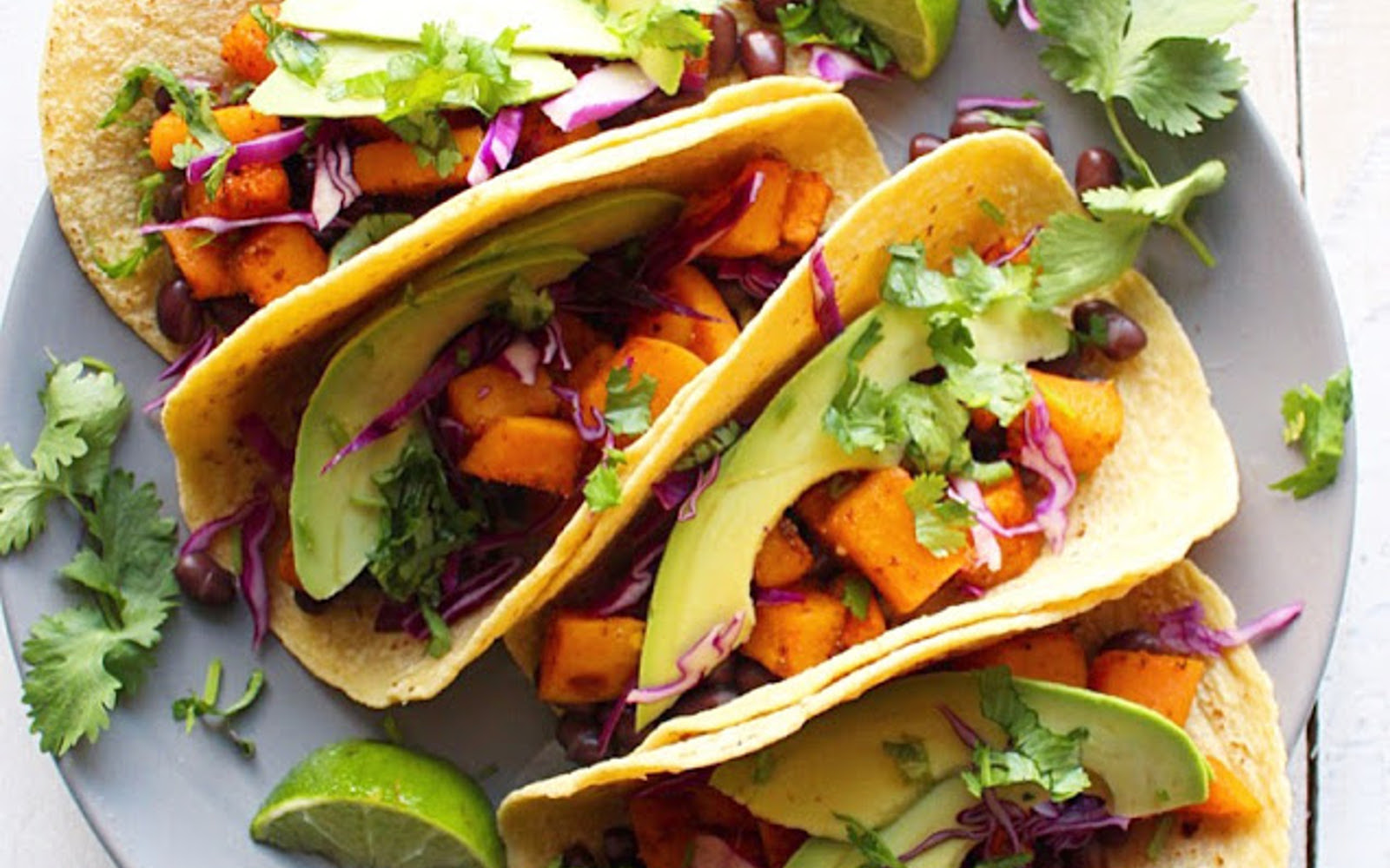 Vegan Chili Roasted Butternut Squash Tacos