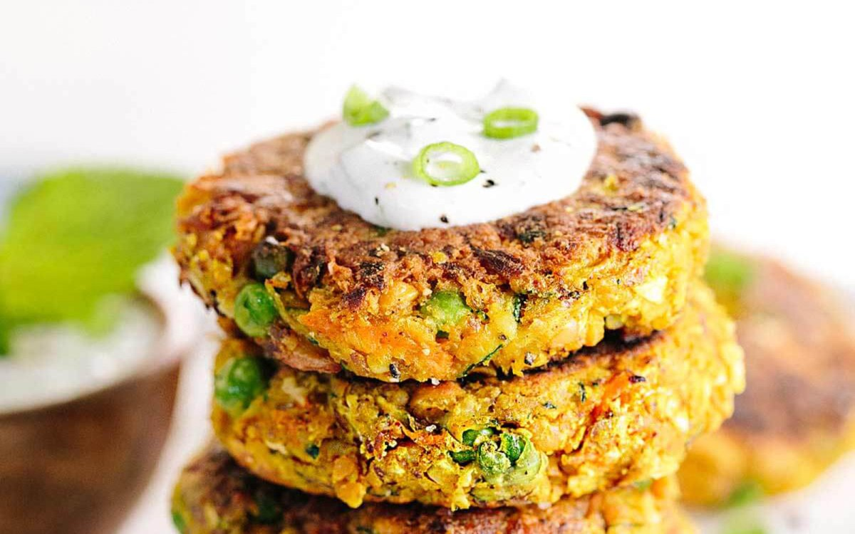 Indian-Spiced Chickpea And Vegetable Cakes [Vegan, Gluten