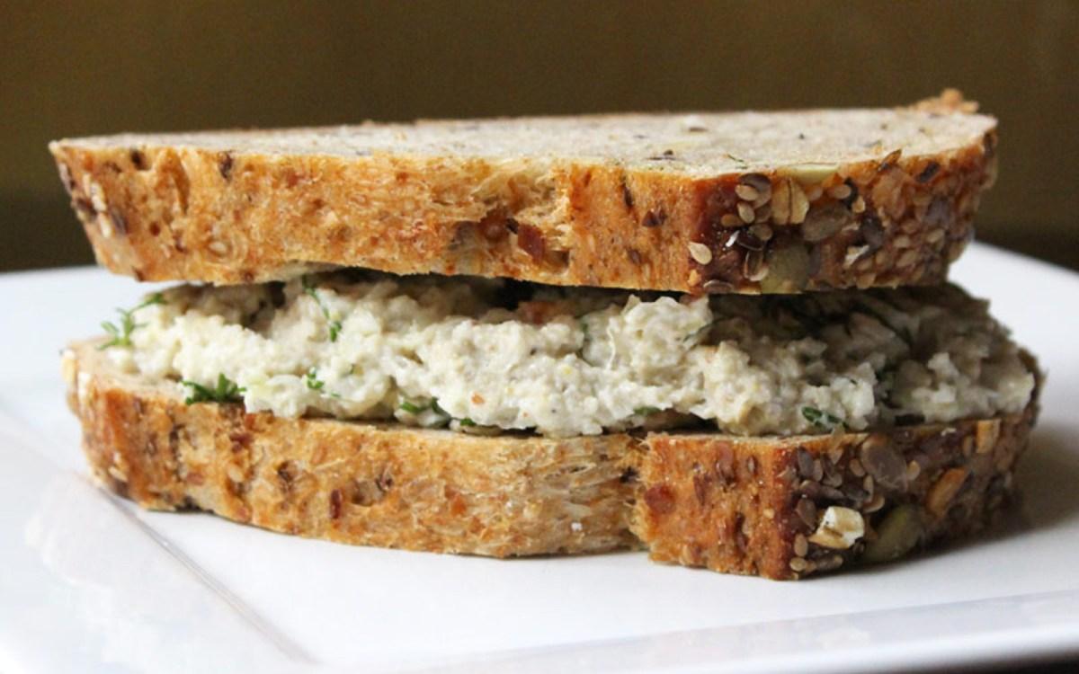 vegan sauerkraut sunflower seed and cashew tuna fish