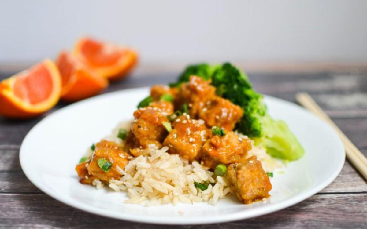 Vegan Crispy Baked Cara Cara Orange Tofu