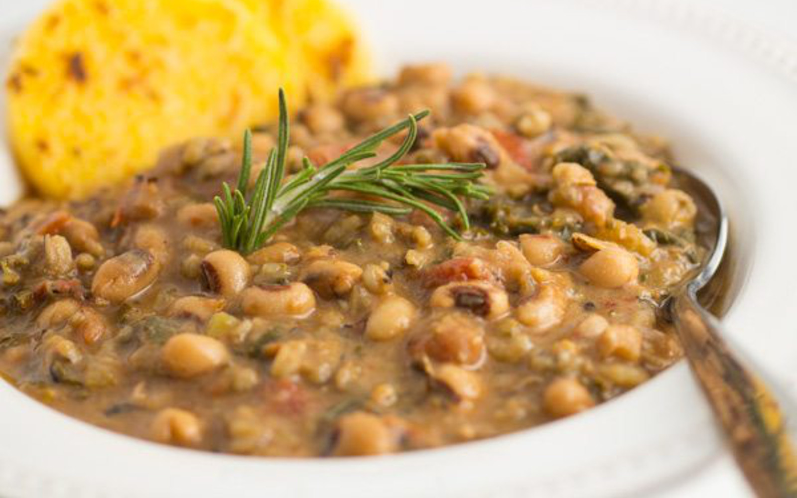 Vegan Gluten-Free Pressure Cooker Hoppin' John with garnish