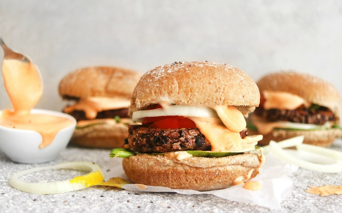 Black Bean Burgers With the Best Burger Sauce