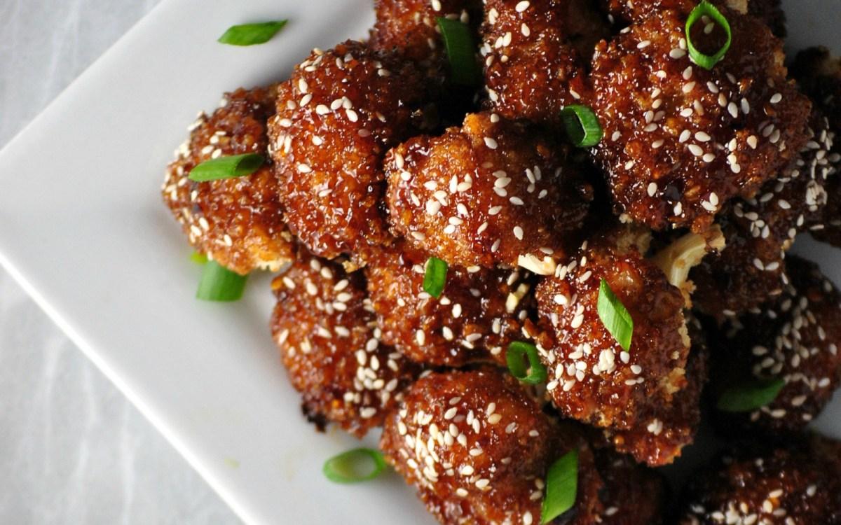 Vegan Asian Inspired Cauliflower Wings