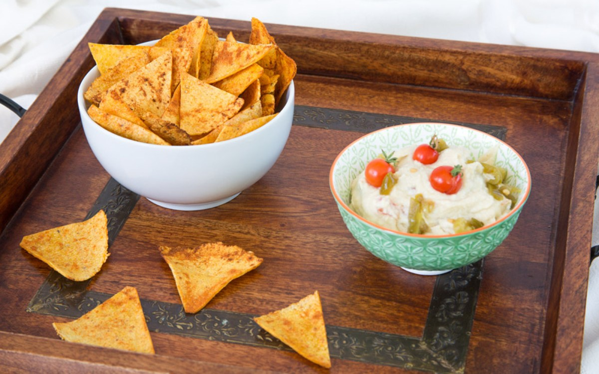 Vegan Oil-Free Chili Lime Spiked Corn Chips