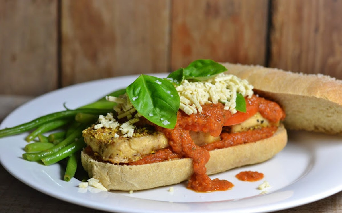 Vegan Roasted Tofu Parmesan Sandwiches