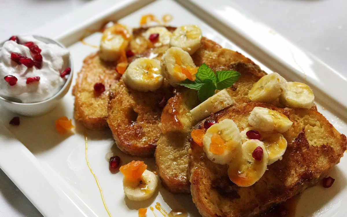 vegan apricot french toast