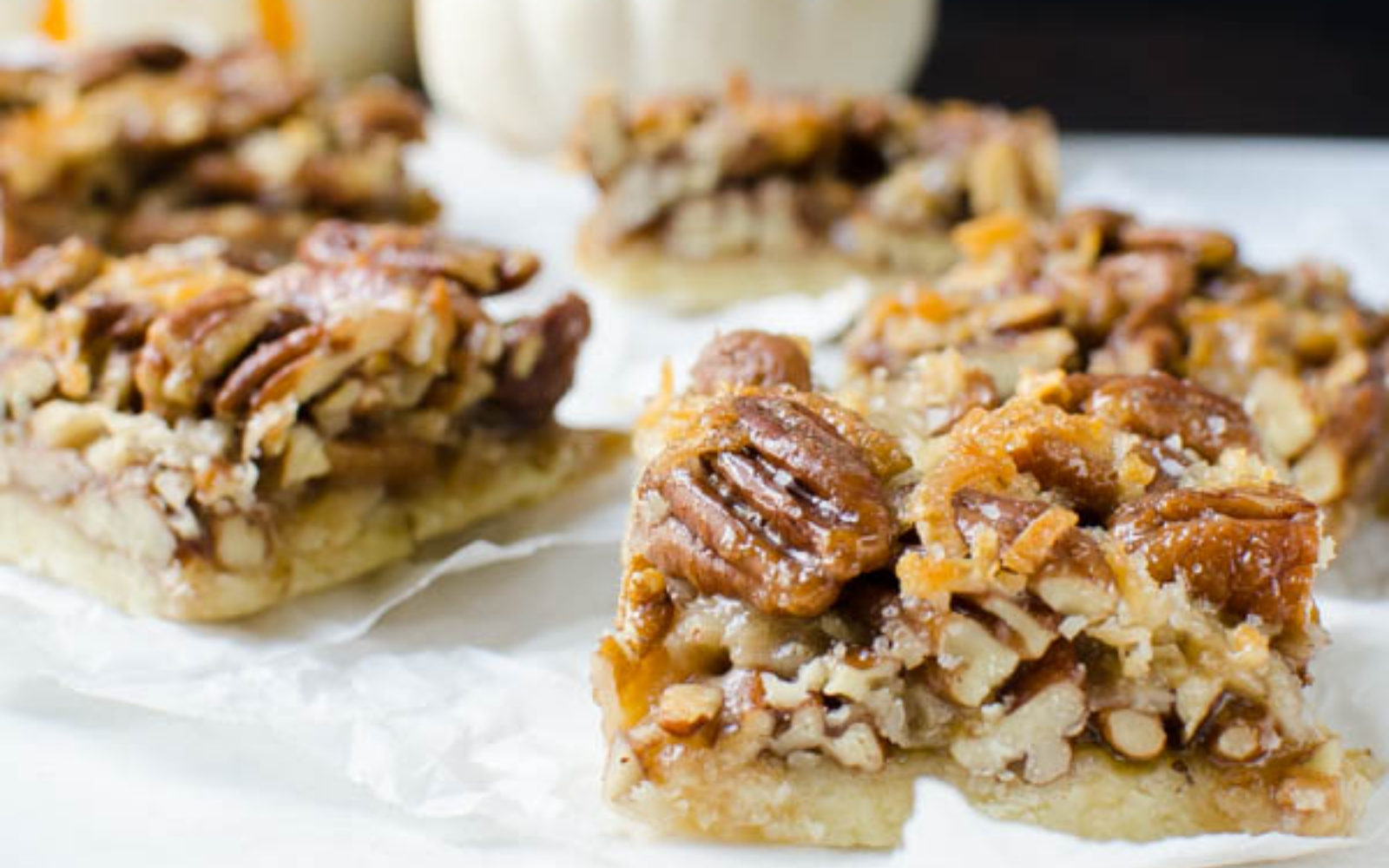 Vegan Salted Coconut Pecan Bars