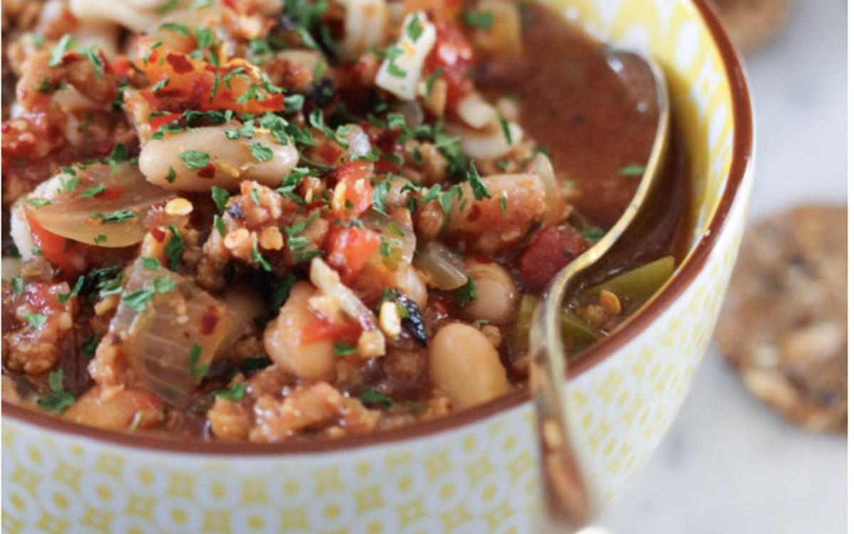 vegan beefless vegetable soup