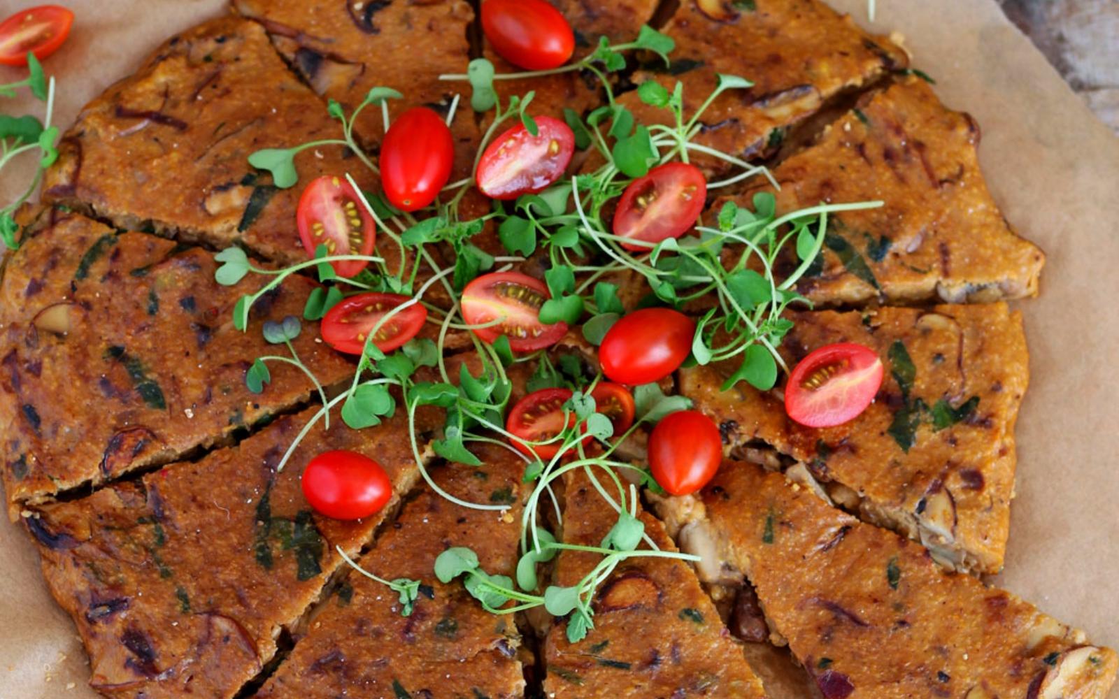Vegan Baked Mushroom Polenta