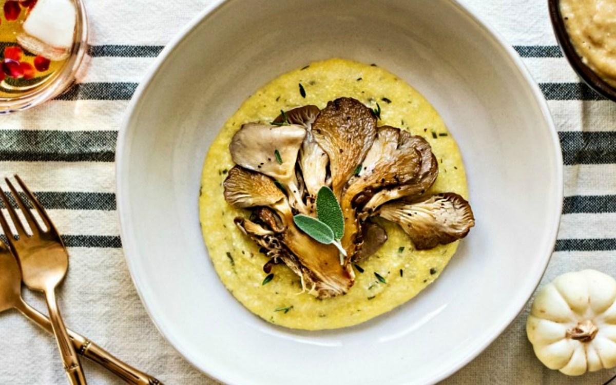 Vegan Oyster Mushroom Steaks With Miso Gravy
