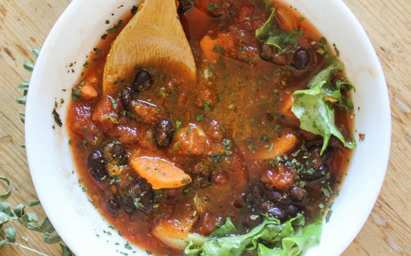 Vegan Grain-Free Soothing Sweet Potato and Beet Soup
