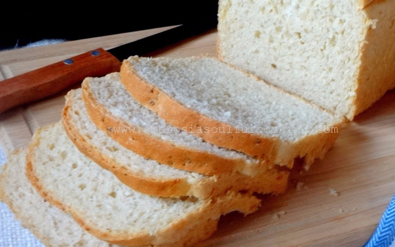 Sliced Vegan Leftover Rice Bread