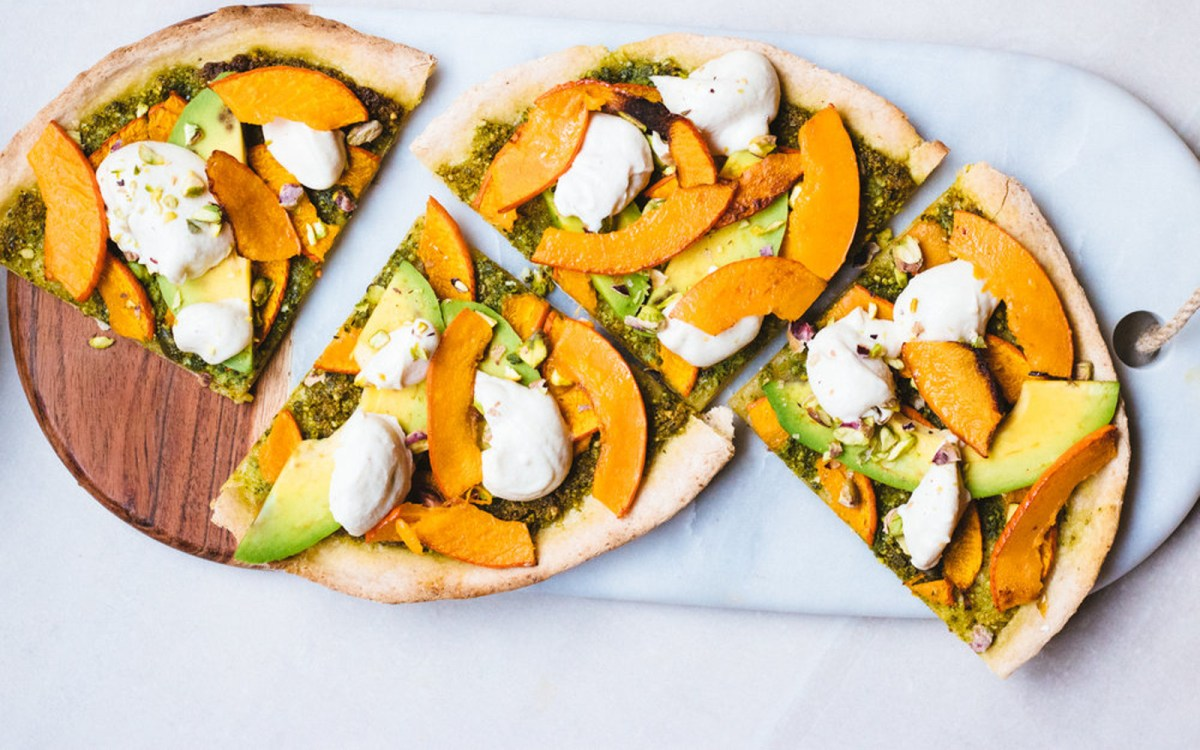 Vegan Gluten-Free Fall Harvest Pizza