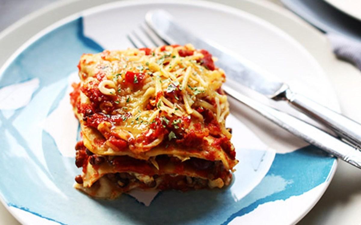 Vegan Tex-Mex Tortilla Lasagna