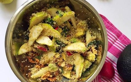 Vegan Gluten-Free Quinoa Pear Salad