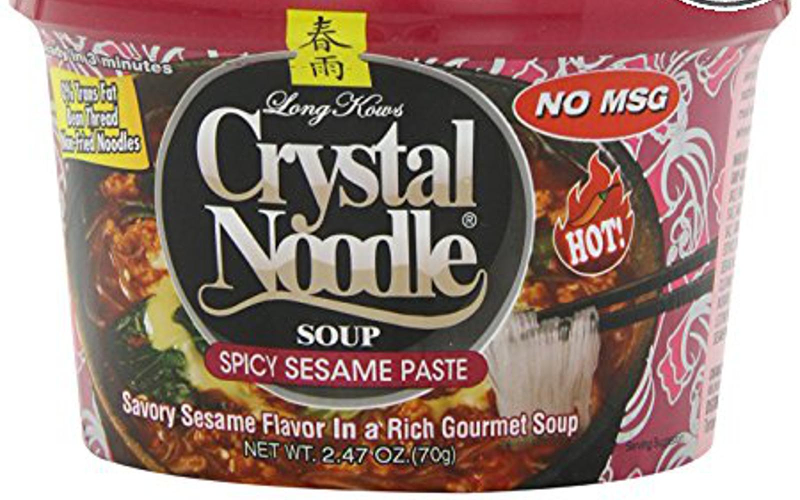 Vegan crystal noodle instant noodles