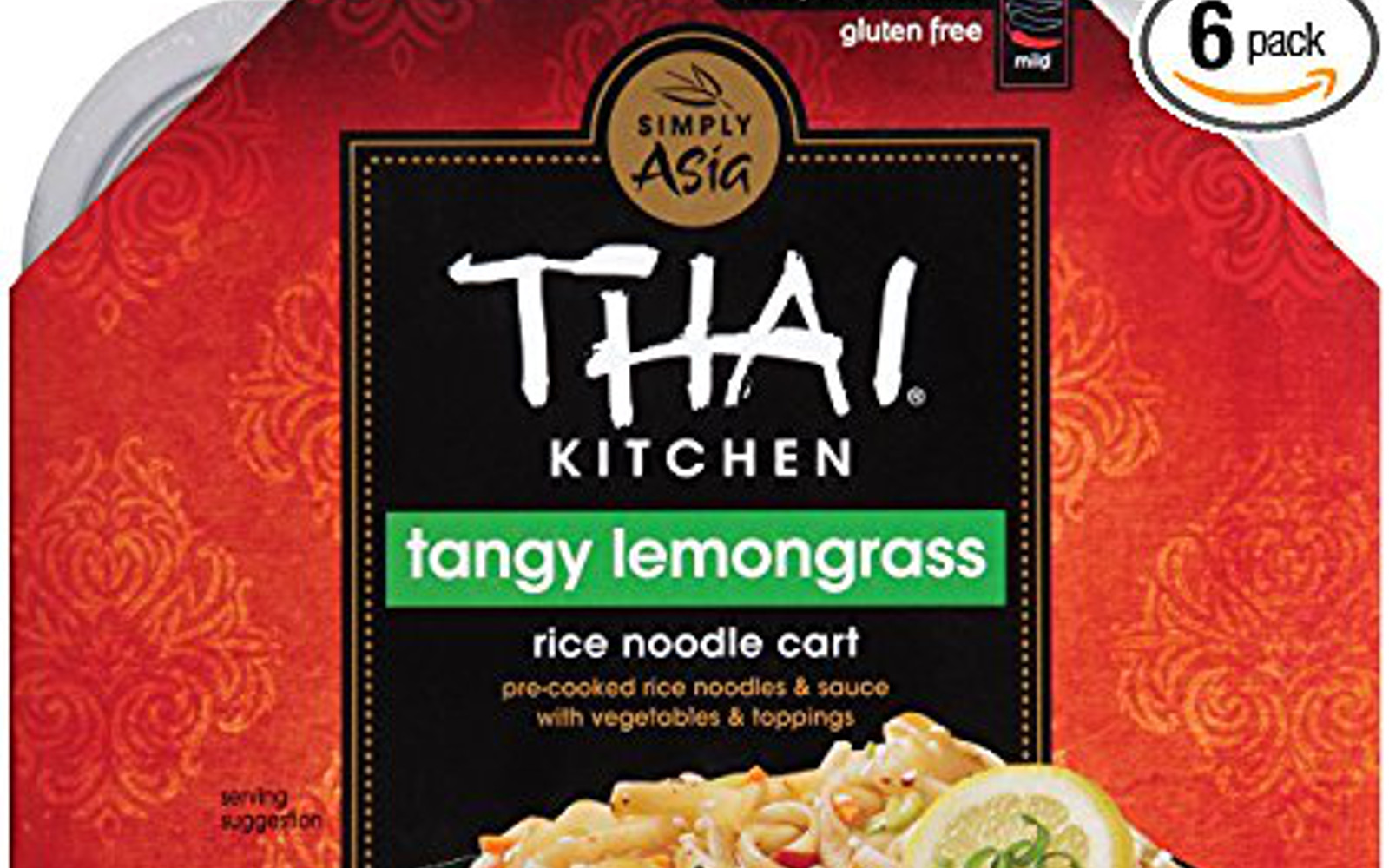 Vegan Amazon Soup Finds for #NationalSoupMonth | Vegan Thai Kitchen Tangy Lemongrass Rice Noodle Cart, 9.7 oz (Case of 6)