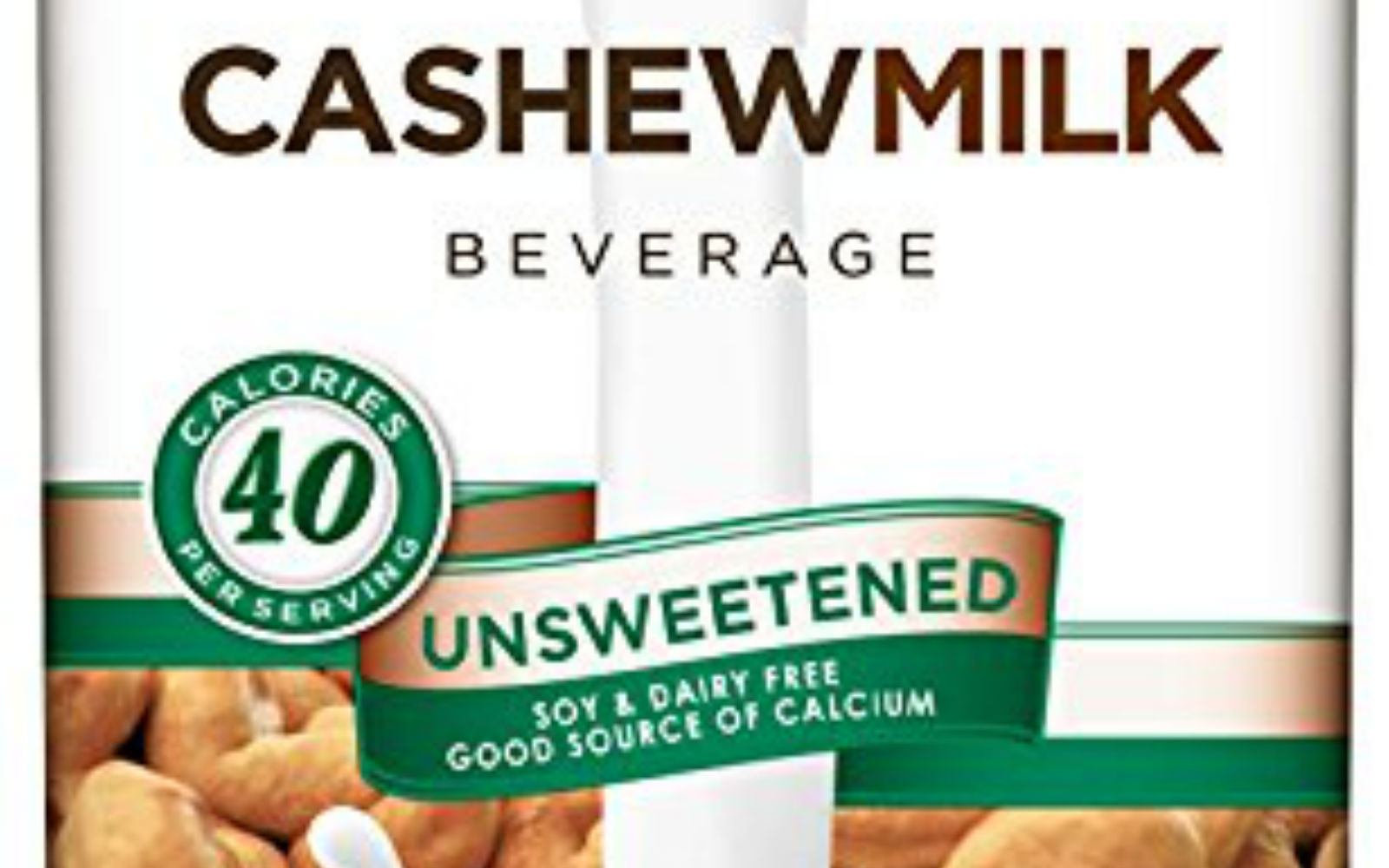 So Delicious Dairy Free Cashewmilk Beverage, Unsweetened, 32 oz (Pack of 6)