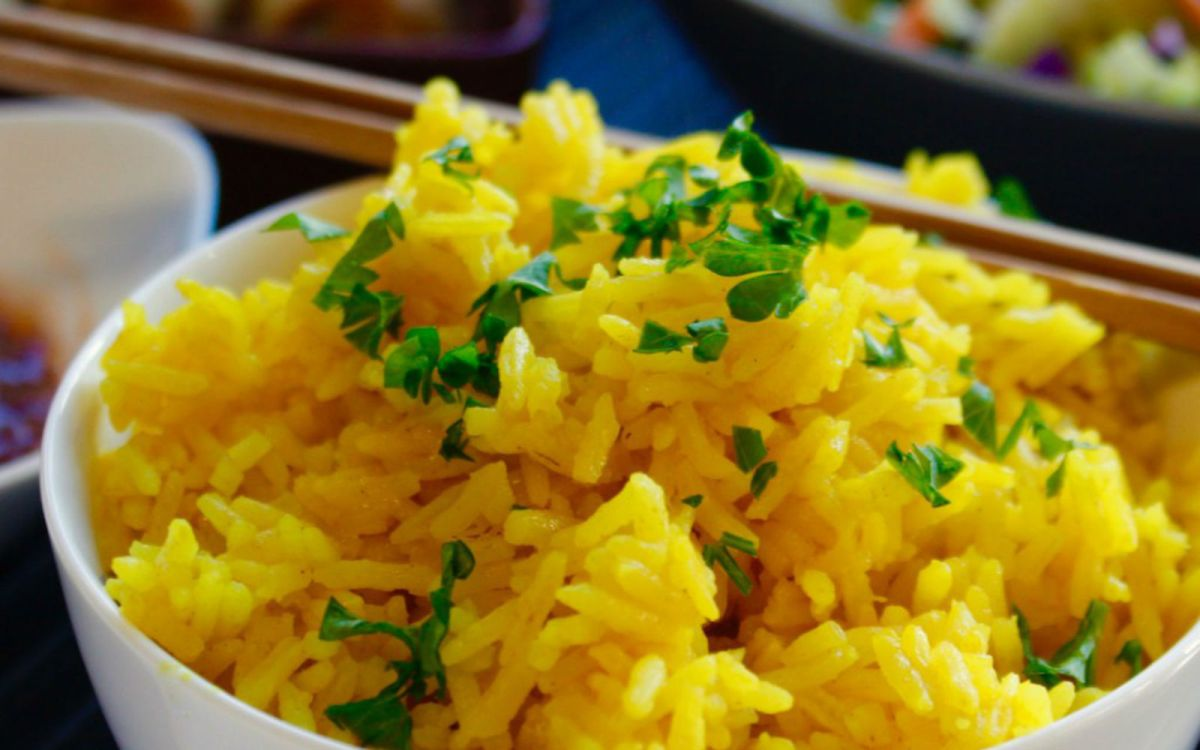Vegan Turmeric Coconut Rice