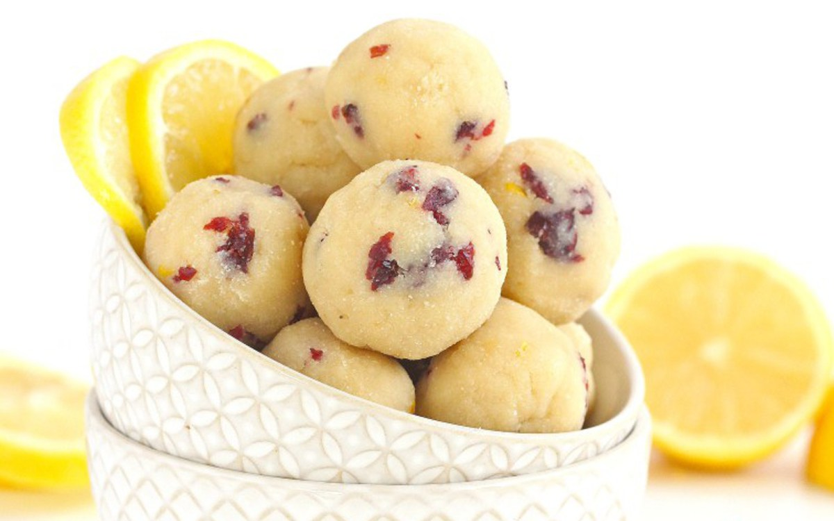Paleo Cranberry Lemon Bites