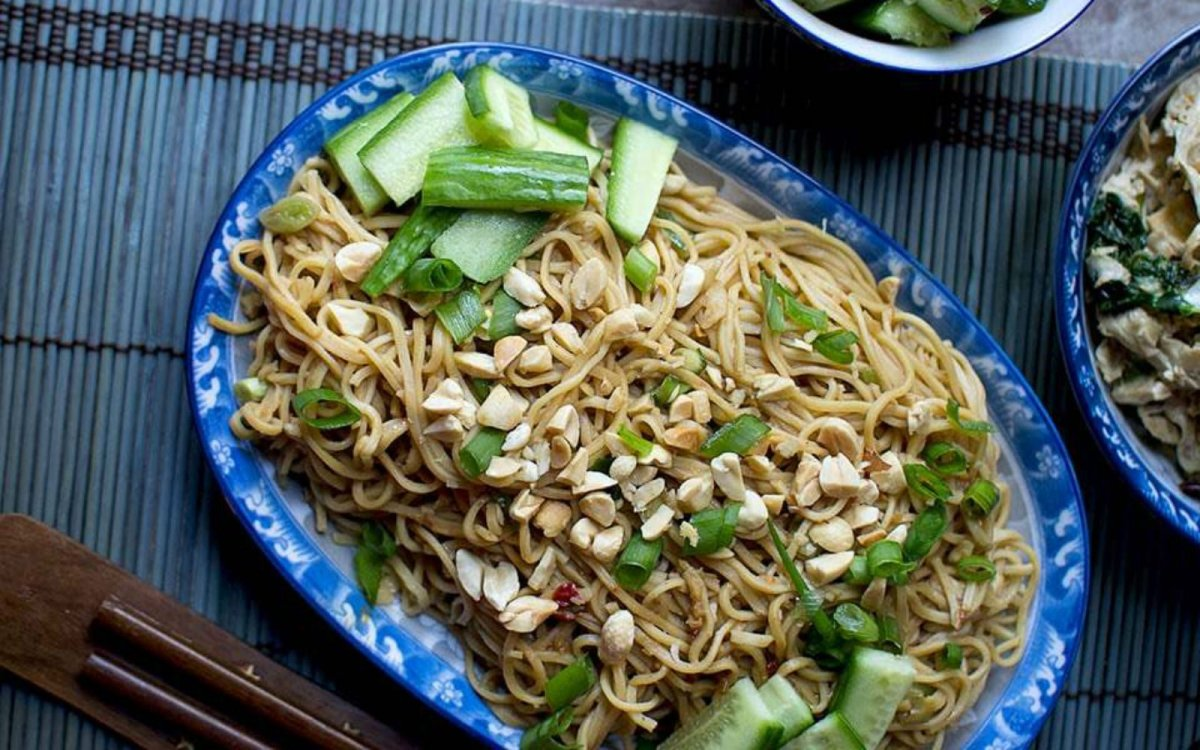 Vegan Chinese Cold Sesame Noodles