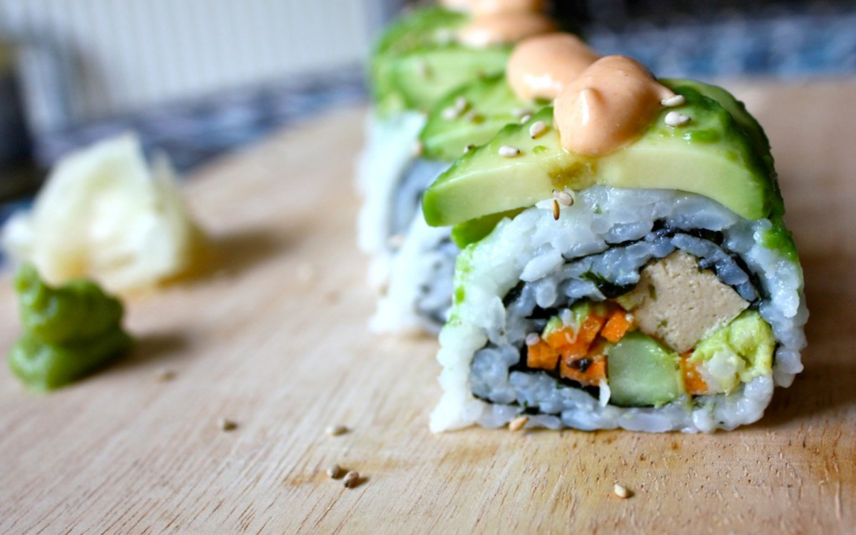 Vegan Veggie Dragon Roll