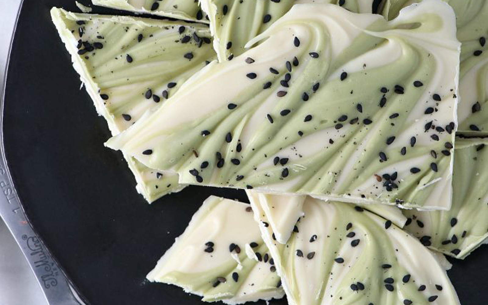 Vegan 4-Ingredient White Chocolate Matcha Bark