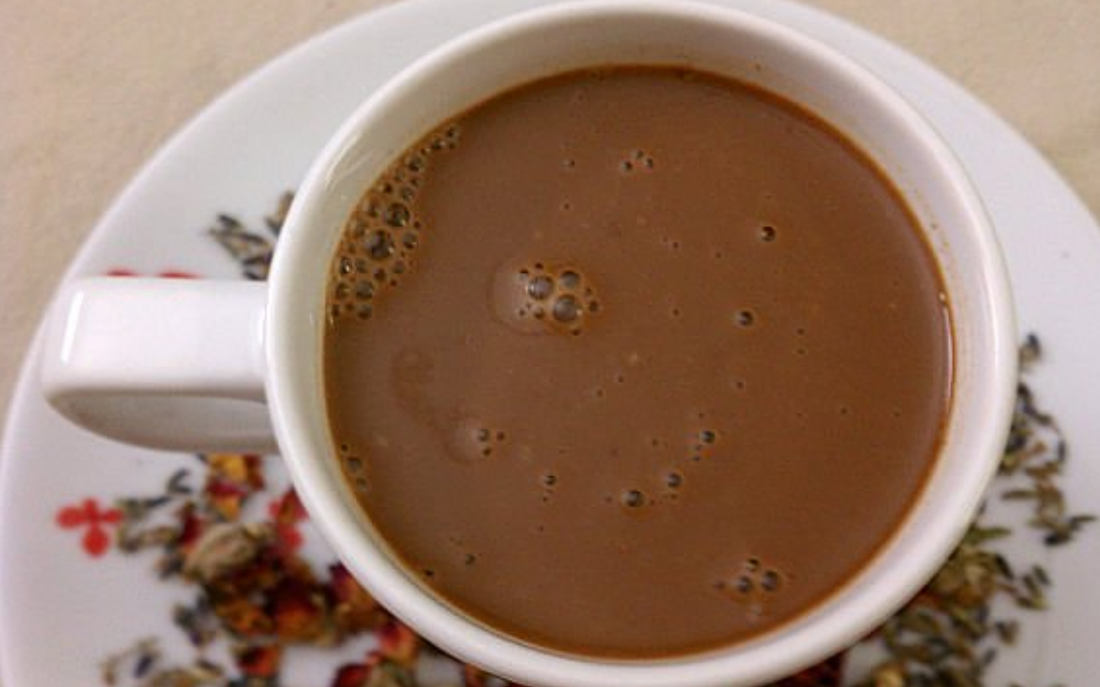 Vegan Slow-Cooker Lavender Rose Hot Chocolate