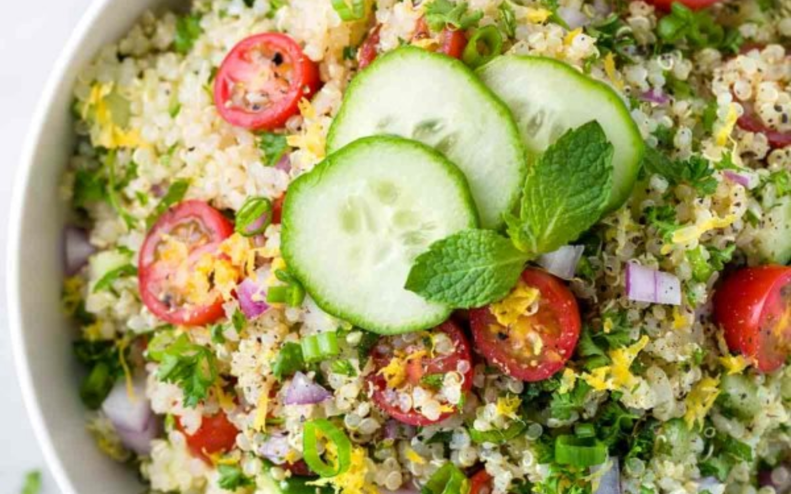 Vegan Quinoa Tabbouleh With Lemon Garlic Dressing [Vegan]