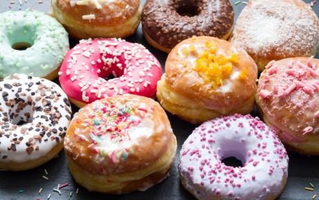 Rainbow Vegan Doughnuts
